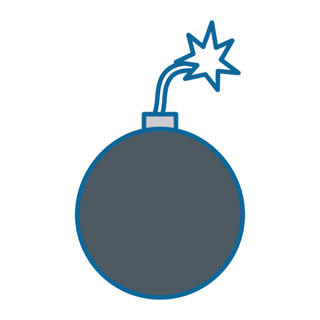 explosive boom isolated icon vector illustration design