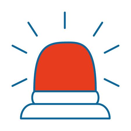 緊急ライト分離アイコン ベクトル イラスト デザイン
