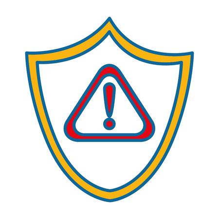シールド セキュリティ警告シンボル ベクトル イラスト デザイン