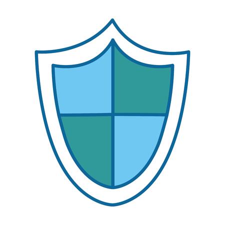 La seguridad escudo aislado icono de ilustración vectorial de diseño Foto de archivo - 85042401