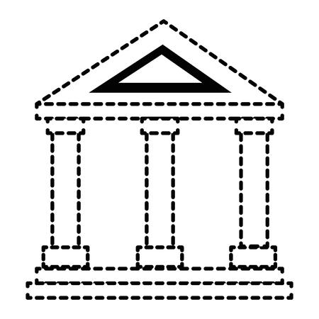 building with columns icon vector illustration design 向量圖像