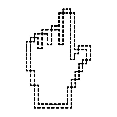 pointer hand index isolated icon vector illustration design