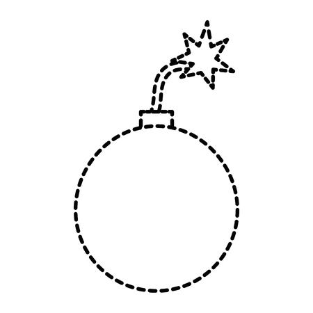 Explosieve boom geïsoleerd pictogram vector illustratie ontwerp Stock Illustratie