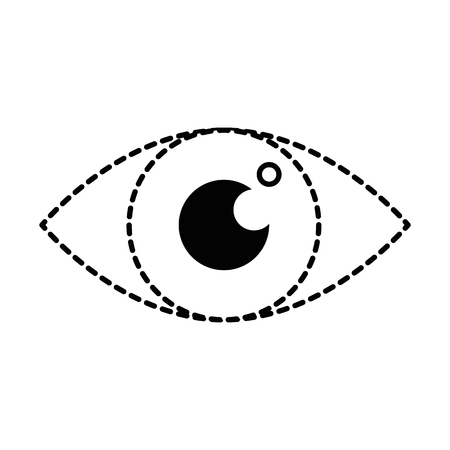 eye sign isolated icon vector illustration design