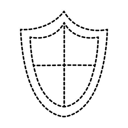 シールド分離されたセキュリティ アイコン ベクトル イラスト デザイン