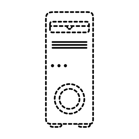 tower computer isolated icon vector illustration design Stock Vector - 85042485
