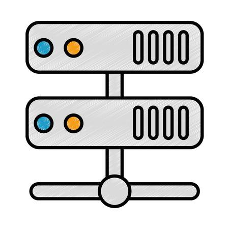 Server-Rechenzentrum Symbol Vektor-Illustration Design Standard-Bild - 85028333