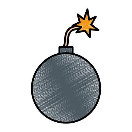 Explosive boom isolated icon vector illustration design Illustration