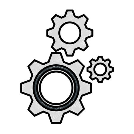 gears machinery isolated icon vector illustration design Stock Photo