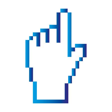 Indicador de la mano del puntero icono aislado diseño de la ilustración vectorial Foto de archivo - 85028455