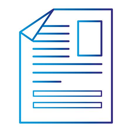 Document paper isolated icon vector illustration design Illustration