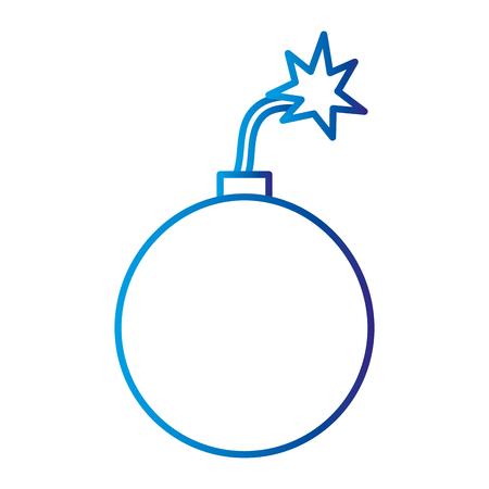 Explosive boom bomb isolated icon vector illustration design Illustration