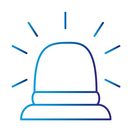 Vector de illustratieontwerp van het noodsituatielicht sirene geïsoleerd pictogram Stock Illustratie
