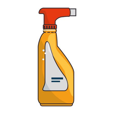 Limpiador splash botella lavandero producto ilustración vectorial diseño Foto de archivo - 85042547