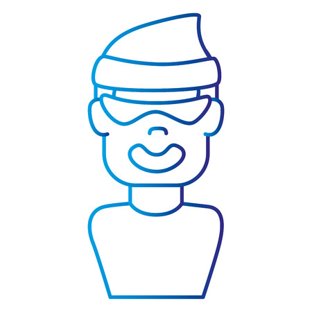 dangerous work: thief avatar character icon vector illustration design