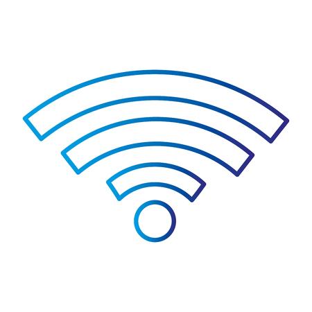 와이파이 신호 아이콘 벡터 일러스트 디자인 격리 스톡 콘텐츠 - 85042595