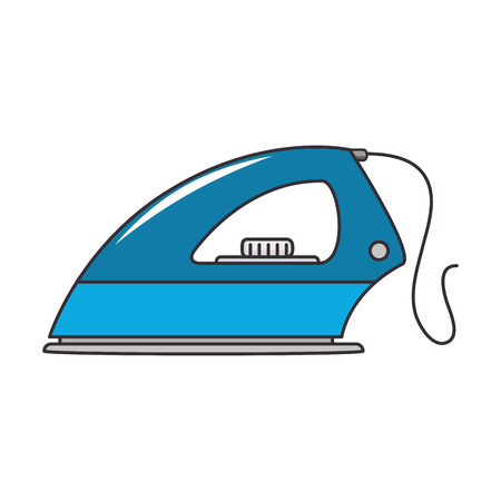 iron clothes appliance icon vector illustration design