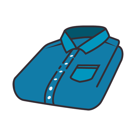 分離した折られたシャツのアイコン ベクトル イラスト デザイン