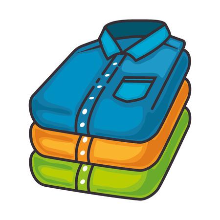 접힌 된 셔츠 격리 된 아이콘 벡터 일러스트 레이 션 디자인