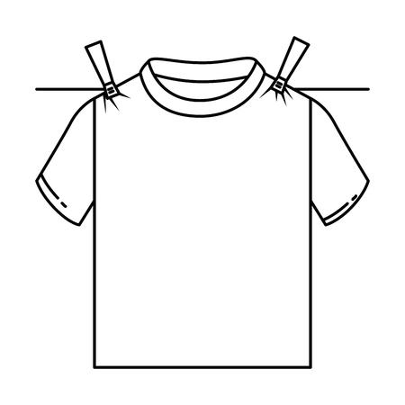 Clean laundry hanging icon vector illustration design Ilustração