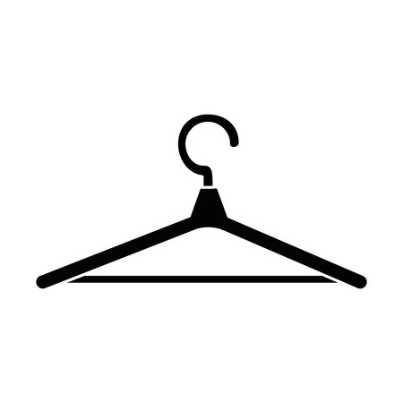 Wooden hanger clothespin isolated icon vector illustration design