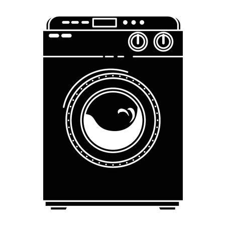 Pralka na białym tle ikona wektor ilustracja projektu