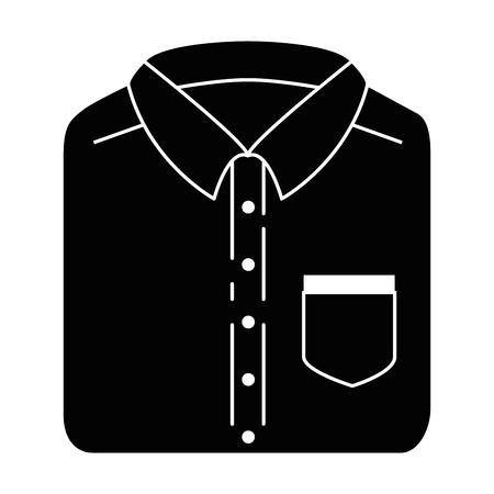 折りたたみシャツ分離アイコンベクトルイラストデザイン
