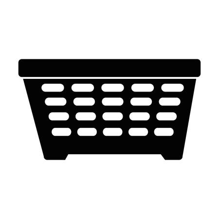 세탁 바구니 절연 아이콘 벡터 일러스트 디자인