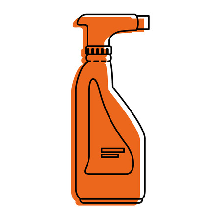 antiseptic: cleaner splash bottle laundry product vector illustration design Illustration