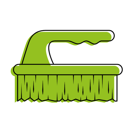 handle brush cleaner icon vector illustration design