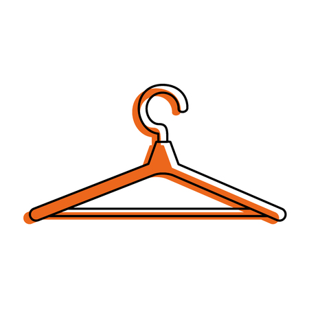 wooden clothespin isolated icon vector illustration design