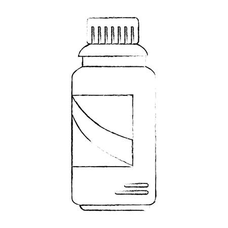 Limpiador botella de productos de lavandería ilustración vectorial diseño Foto de archivo - 85043096