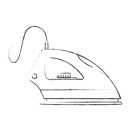 iron clothes appliance icon vector illustration design
