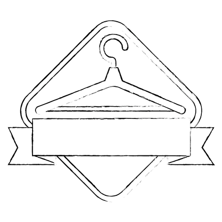 Wooden clothespin emblem product vector illustration design.