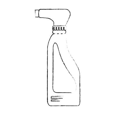 Limpiador de la botella de lavandería de productos de lavandería ilustración vectorial de diseño Foto de archivo - 85043106
