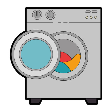 Washer machine isolated icon vector illustration design.