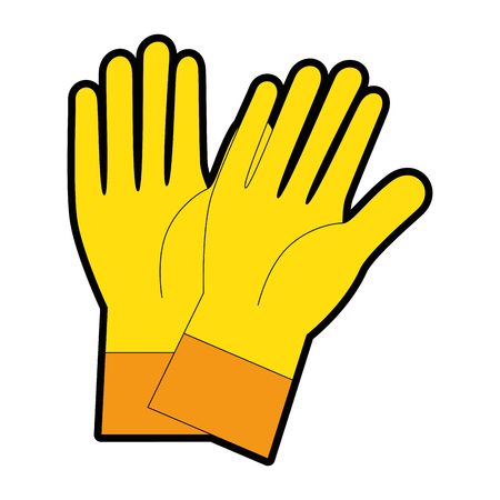 Rubber gloves isolated icon vector illustration design. Illustration