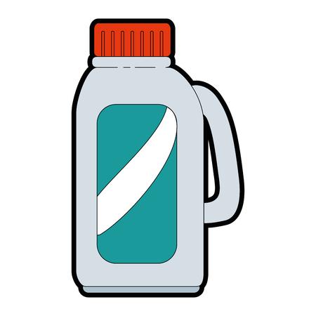 Un diseño más limpio del ejemplo del vector del producto del lavadero de la botella. Foto de archivo - 85031903