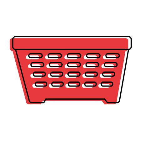 shopping basket isolated icon vector illustration design Stock Photo