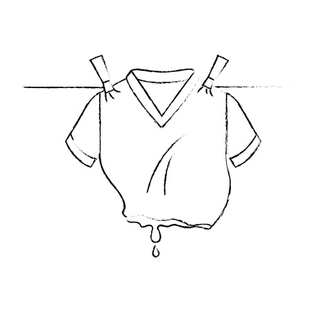 Clean laundry hanging icon vector illustration design Stock Photo