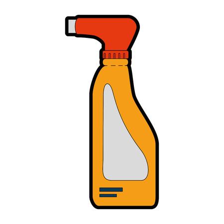Cleaner splash bottle laundry product vector illustration design