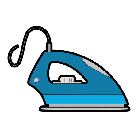 Iron clothes appliance icon vector illustration design 向量圖像