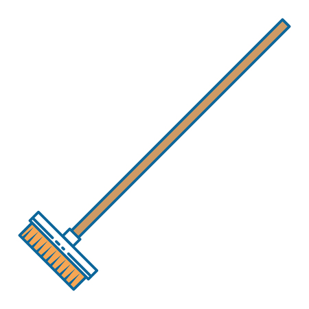 drying mop isolated icon vector illustration design
