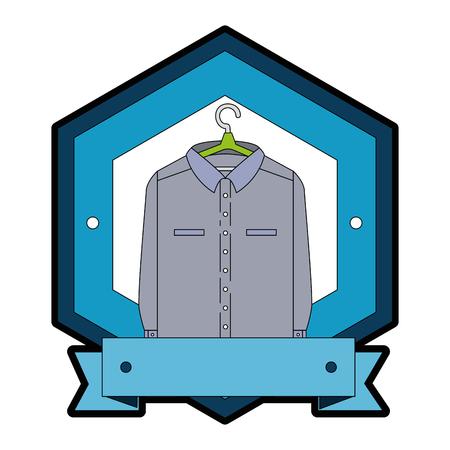 Clean blanchisserie suspendus emblème vector illustration design Banque d'images - 85043148