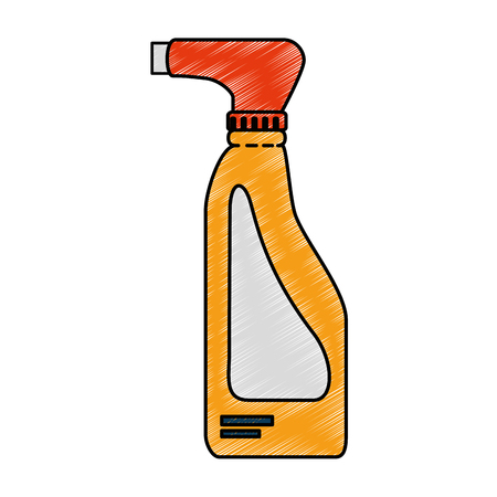 cleaner splash bottle laundry product vector illustration design Ilustrace