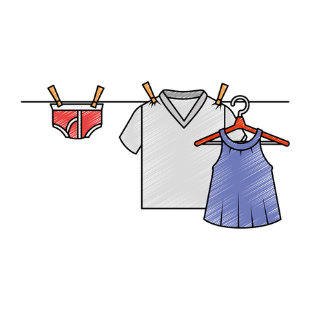 Clean laundry hanging icon vector illustration design Illustration