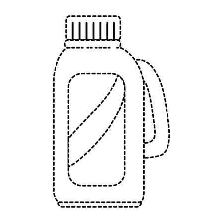 Limpiador botella de productos de lavandería ilustración vectorial diseño Foto de archivo - 85030310