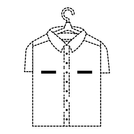 Schoon wasserij hangende pictogram vector illustratie ontwerp