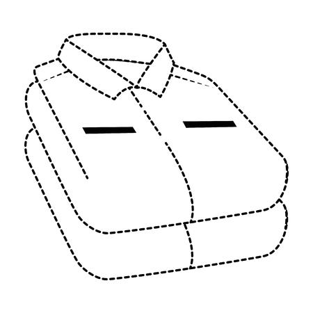 Het gevouwen overhemd geïsoleerde ontwerp van de pictogram vectorillustratie Stock Illustratie