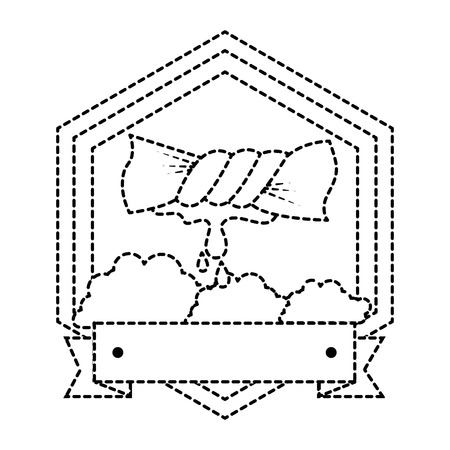 Squeeze die Kleidung Emblem Vektor-Illustration Design Standard-Bild - 85031809